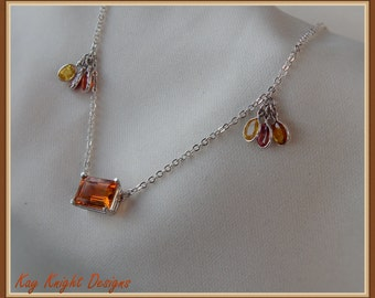 Citrine And Orange Sapphire Necklace By Kay Knight Designs