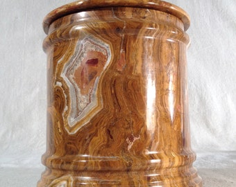 Onyx canister covered jar