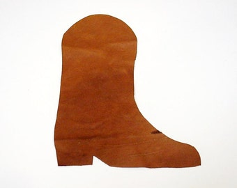 Cowboy Boot Applique, Large Leather Western Cowgirl Boot, Rustic Crafting Embellishment itsyourcountry