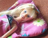 Barbie Pink Flowers Cotton Print Sleeping Bag
