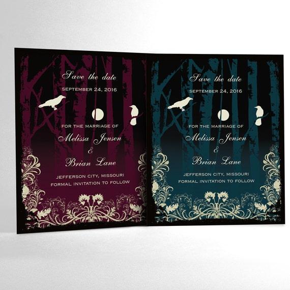 Halloween Wedding Save the Date Cards Elegant Gothic Wedding – Halloween Wedding Save the Dates