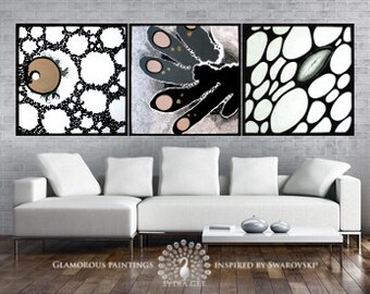 Modern abstract artwork with Swarovski®. Modern art. Modern painting. Modern fine art. Modern abstract art. Modern decor. Modern house art.