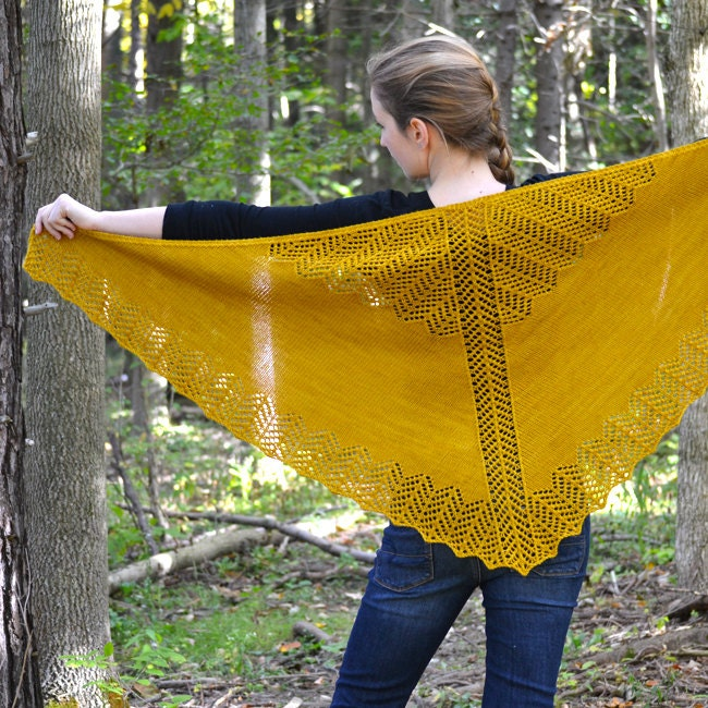 Shawl Knitting PATTERN PDF Knitted Shawl Pattern Lace Shawl