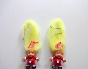Vintage Santa Claus Troll Earrings 1980s