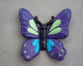 Cast Iron Butterfly / Monarch Butterfly / Home Decor / Garden Decor / Purple / Blue / Green