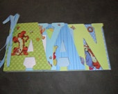 """Custom Word book / Photo Album Childrens Names or Words 6"""" x 12"""" you choose the theme and color"""