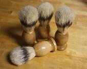 Boar Bristle Shaving Brush // Multi Purpose Cleaning Tool Natural Boar Hair Brush