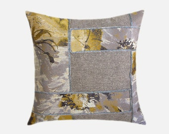 """Decorative Pillow Case, Sand Off White fabric Throw pillow case with Abstract geometric accent, fits 18""""x18"""" insert, Toss pillow case."""