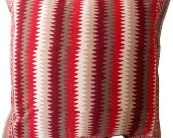 "Biba Red reversible cushion cover - 24"" x 24"""