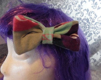 Music Bubbles Double Layer Hair Bow Clip