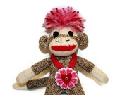Valentine Sock Monkey Kid