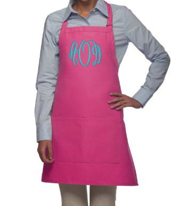 Monogrammed Apron For Women Personalized Apron By