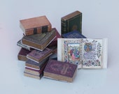 16 1:6 scale antique/old/leatherbound/witchcraft/spell books bookcase/OOAK dollhouse/diorama (Blythe, Barbie, 12'' dolls)