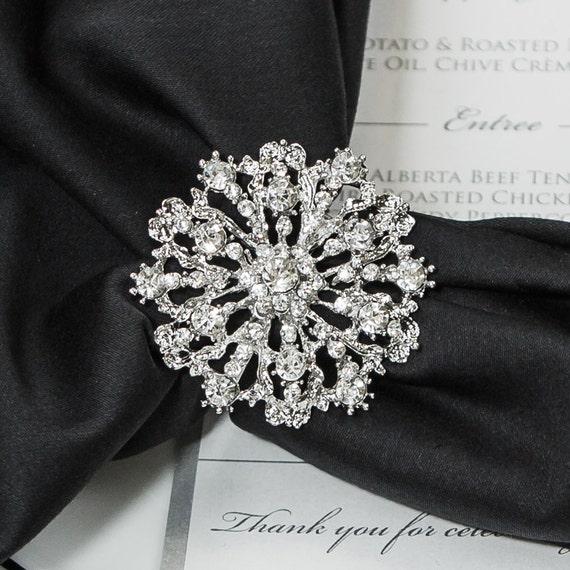 wedding napkin rings rhinestone napkin rings table decor wedding