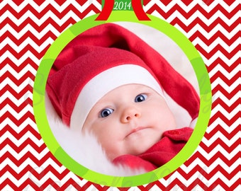 PHOTO CHRISTMAS CARD -Custom Photo Holiday Card  - Merry Christmas and Happy New Year - 1st Christmas - Personalized Printable Holiday Card