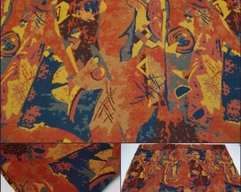 Upholstery- Tapestry fabric- Sample-w 25x26L- Brick