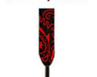Red Bandana Custom Printed Black Shoestrings, Shoelaces by Bandana Fever