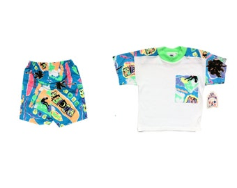 Deadstock 90s Neon Surfin' Toddler Party Suit - Age 3