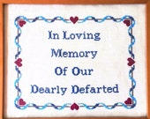 PATTERN Subversive Funny Bathroom Cross Stitch In Loving Memory of Our Dearly Defarted - Instant Download .PDF