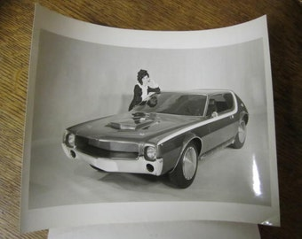 Rare Original Glossy Photograph Press Release of the AMX/GT. Wonderful World Of Wheels.1968