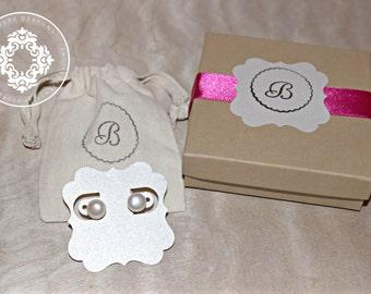 Freahwater Pearl stud Earrings, 925 Sterling silver earrings, Wedding, bridesmaid Jewelry, by Jewles Designs on Etsy