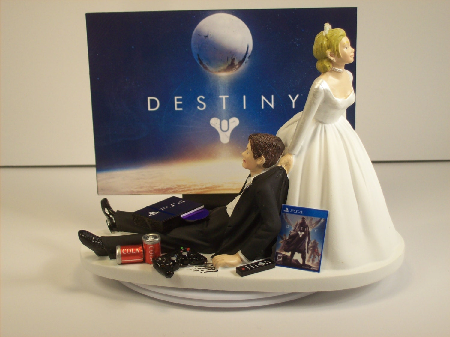 Sale Gamer Addict Funny Wedding Cake Topper Bride and by