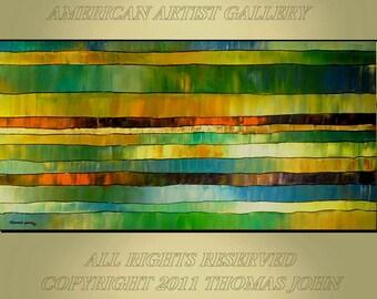 ORIGINAL PAINTING Large 24X48  Abstract Ready To Hang Art by Thomas John