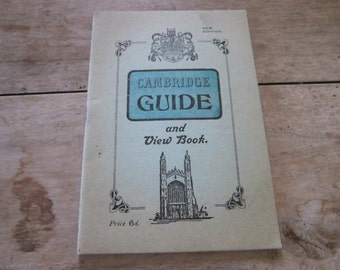 Vintage 1930s Cambridge Guide and View Book