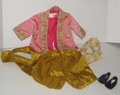 Fabulous Vintage DOLL OUTFIT Oriental Jacket, Pants, Shoes, Belt