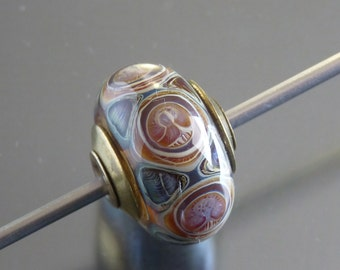 Handmade lampwork glass  bead by FireForgedStudio jewelry supplies