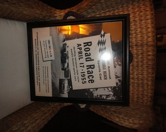 1955 6th Pebble Beach Road Race & Concours Heavy Stock POSTER Print