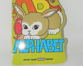 ABC Alphabet - A Honey Bear Shape Board Book  - 1991