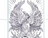Custom Order for Kim - Phoenix and Spiral Cross