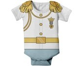 Prince Charming Baby Bodysuit, Personalized Prince Charming Birthday Outfit, White Jacket Prince Baby Outfit, Baby Prince Charming Shirt