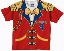 Circus Birthday Shirt,  Personalized Circus Ringmaster T-Shirt, Carnival Birthday Tshirt, Childrens Clothing