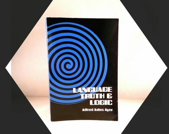 Vintage Book Language Truth and Logic by Alfred Jules Ayer 1950s philosophy text paperback philosopher j old philosophical theory