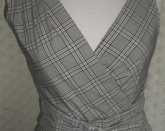 Ireland Vintage Checked cross-over  S-t-r-e-t-c-h BUSTIER TOP