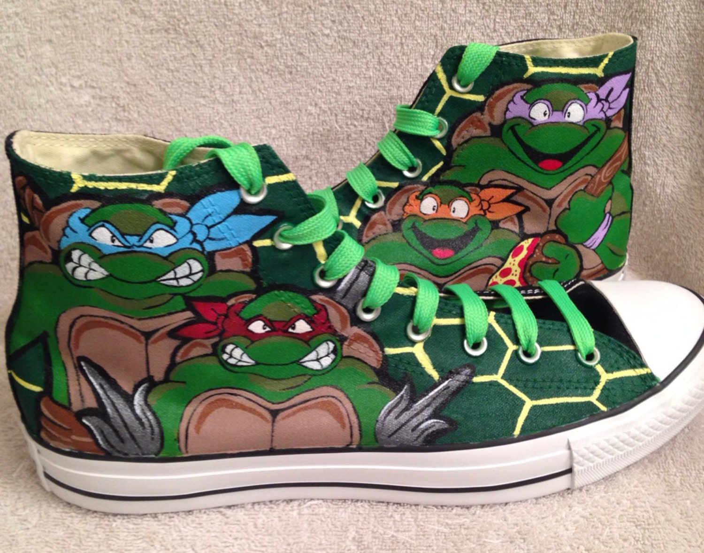 mutant turtles custom chucks shoes