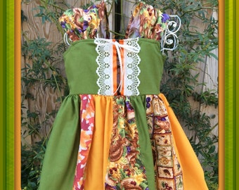 Little girls fall dress,fall festival,thanksgiving dress,holiday dress