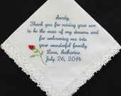 Embroidered Wedding Handk...
