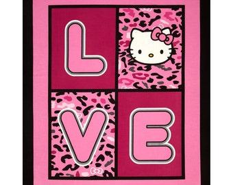 Hello Kitty Cheetah Love PANEL From Springs Creative