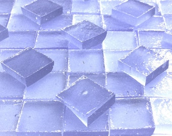 "PERIWINKLE BLUE STIPPLE 3/8"" Translucent Stained Glass Mosaic Mini Tile A38"