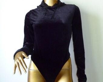 Black velvet body, hoody