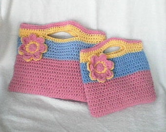 MATCHING PURSE  Crochet Mother and Daughter Matching Purse Perfect Spring/Easter/Summer Purse