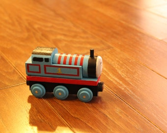 Handmade Wooden Toy Train-Thomas the Train