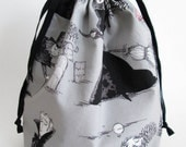 Medium Reversible Drawstring Project Bag