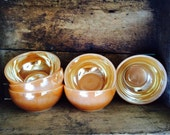 Six Fire-King Retro Sorbet Bowls