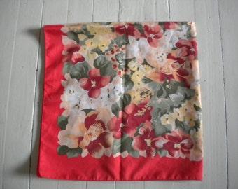 Vintage scarf 60s red tones