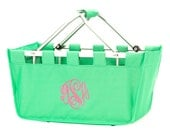 Monogrammed Market Tote - SOLID Color Tote - Other patterns Available