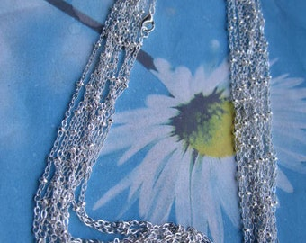 High quality 12pc 18 inch silver plated 2mm bead cable chains--copper material